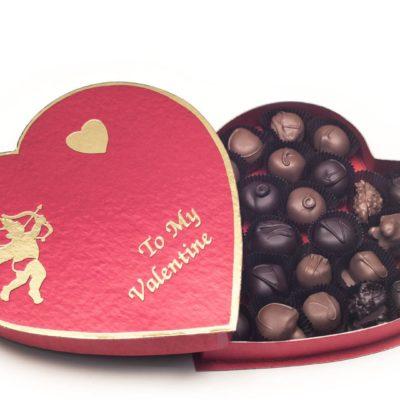 Cupid and Heart Valentine Chocolate Box