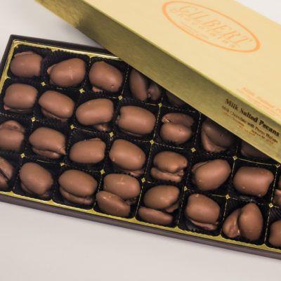 Gilbert Chocolates Gold Box Milk Chocolate Salted Pecans